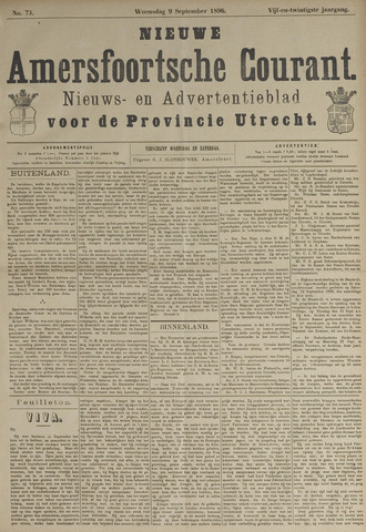 Nieuwe Amersfoortsche Courant 1896-09-09