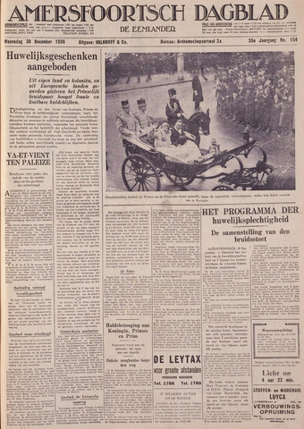 Amersfoortsch Dagblad / De Eemlander 1936-12-30