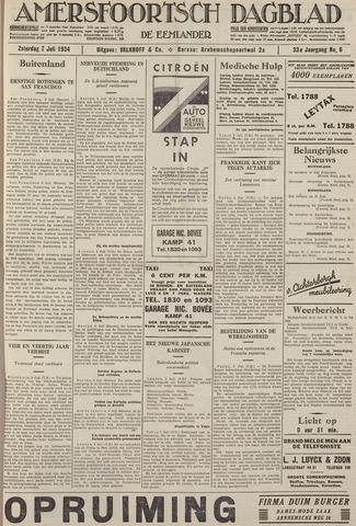 Amersfoortsch Dagblad / De Eemlander 1934-07-07