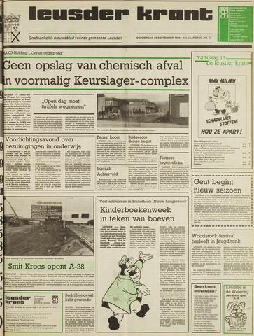 Leusder Krant 1986-09-25