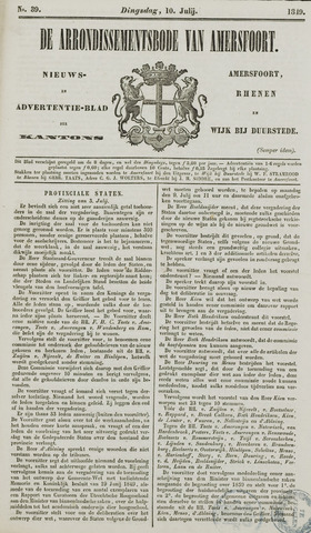 Arrondissementsbode van Amersfoort 1849-07-10