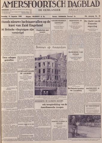 Amersfoortsch Dagblad / De Eemlander 1940-08-14