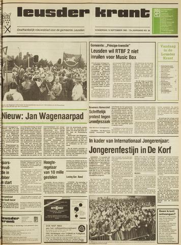 Leusder Krant 1985-09-12