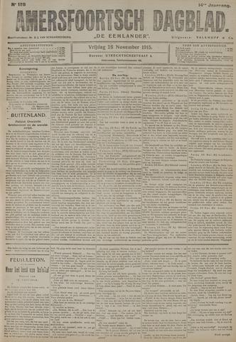Amersfoortsch Dagblad / De Eemlander 1915-11-26