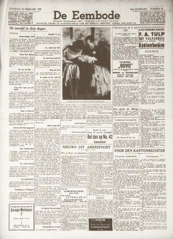 De Eembode 1938-02-22