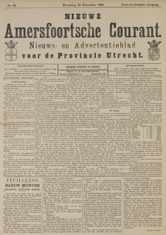 Nieuwe Amersfoortsche Courant 1903-11-25