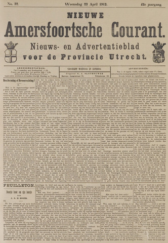 Nieuwe Amersfoortsche Courant 1913-04-23