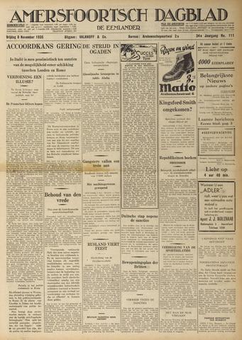 Amersfoortsch Dagblad / De Eemlander 1935-11-08
