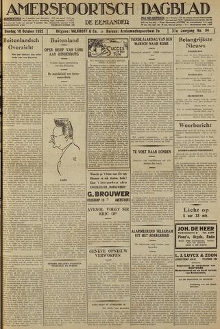 Amersfoortsch Dagblad / De Eemlander 1932-10-18
