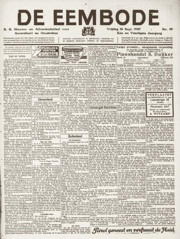 De Eembode 1927-09-16