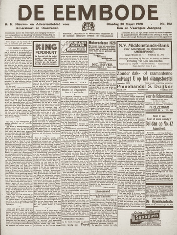 De Eembode 1928-03-20