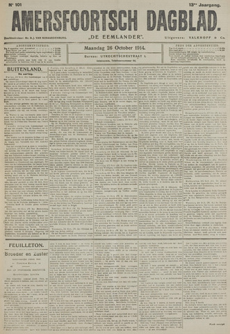 Amersfoortsch Dagblad / De Eemlander 1914-10-26