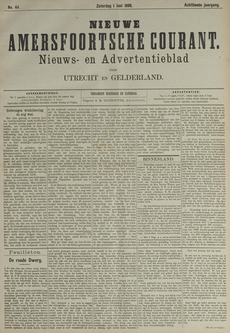 Nieuwe Amersfoortsche Courant 1889-06-01