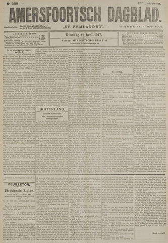 Amersfoortsch Dagblad / De Eemlander 1917-06-12