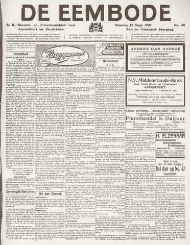 De Eembode 1927-09-13