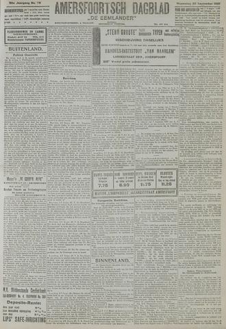 Amersfoortsch Dagblad / De Eemlander 1921-09-28