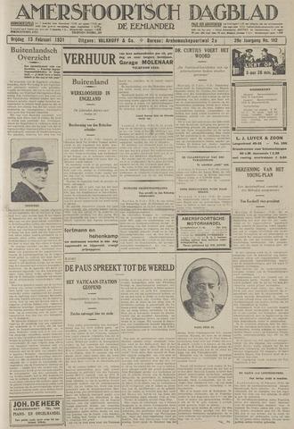 Amersfoortsch Dagblad / De Eemlander 1931-02-13