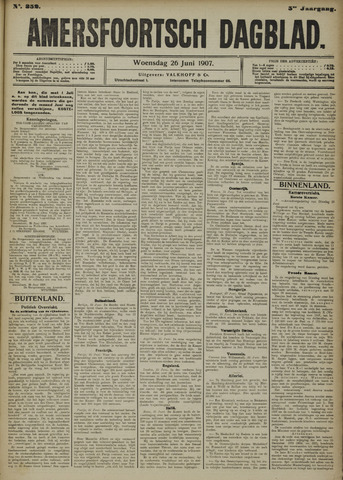Amersfoortsch Dagblad 1907-06-26