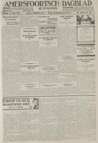 Amersfoortsch Dagblad / De Eemlander 1931-04-13