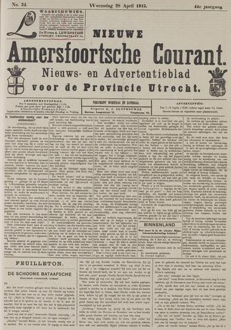 Nieuwe Amersfoortsche Courant 1915-04-28