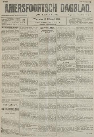 Amersfoortsch Dagblad / De Eemlander 1915-02-10