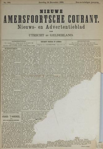 Nieuwe Amersfoortsche Courant 1892-12-24
