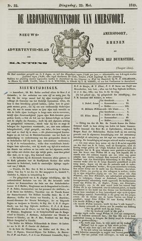 Arrondissementsbode van Amersfoort 1849-05-22