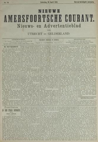 Nieuwe Amersfoortsche Courant 1892-04-30