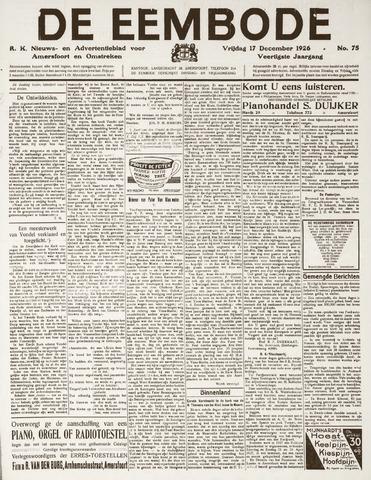 De Eembode 1926-12-17