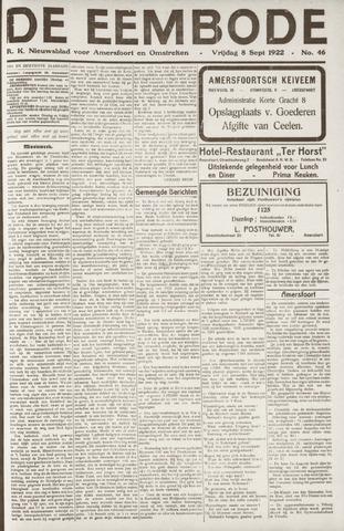 De Eembode 1922-09-08