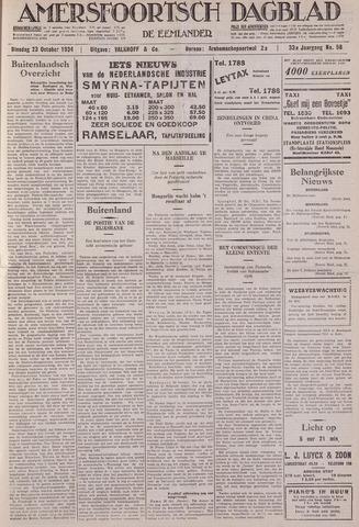 Amersfoortsch Dagblad / De Eemlander 1934-10-23