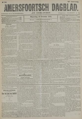 Amersfoortsch Dagblad / De Eemlander 1915-10-18