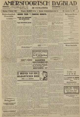 Amersfoortsch Dagblad / De Eemlander 1932-02-08