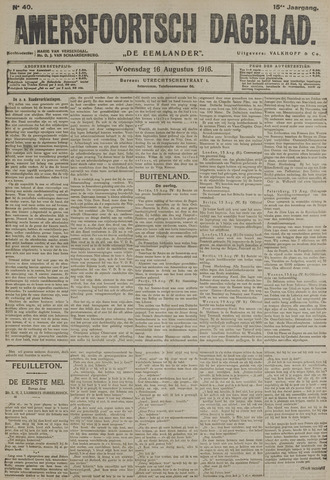 Amersfoortsch Dagblad / De Eemlander 1916-08-16