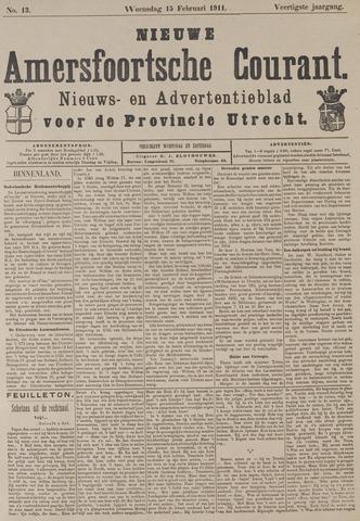 Nieuwe Amersfoortsche Courant 1911-02-15