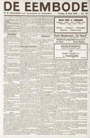 De Eembode 1922-09-15