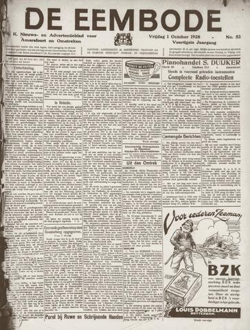De Eembode 1926-10-01