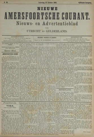 Nieuwe Amersfoortsche Courant 1886-10-23