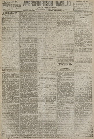 Amersfoortsch Dagblad / De Eemlander 1919-06-20