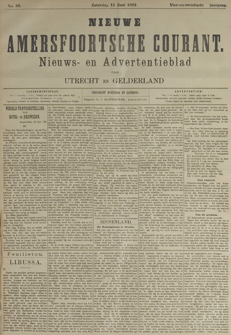 Nieuwe Amersfoortsche Courant 1895-06-15