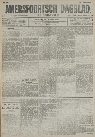 Amersfoortsch Dagblad / De Eemlander 1915-10-12