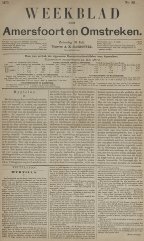 Weekblad voor Amersfoort en Omstreken 1873-07-26