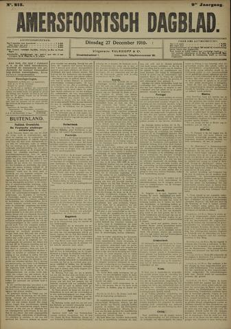 Amersfoortsch Dagblad 1910-12-27