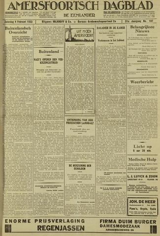Amersfoortsch Dagblad / De Eemlander 1933-02-04
