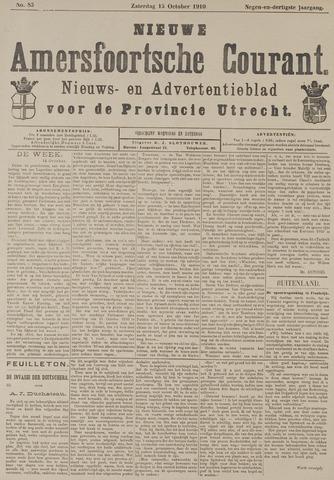 Nieuwe Amersfoortsche Courant 1910-10-15
