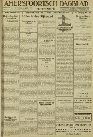 Amersfoortsch Dagblad / De Eemlander 1933-02-03