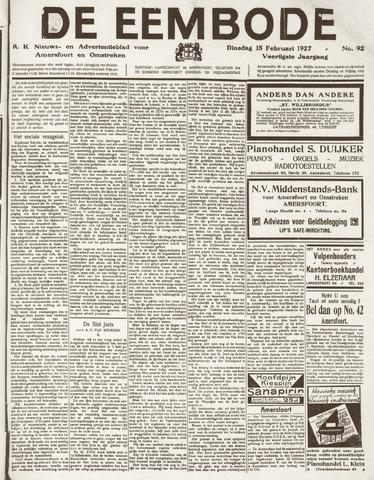 De Eembode 1927-02-15