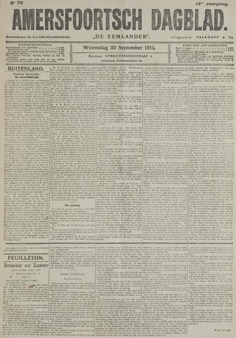 Amersfoortsch Dagblad / De Eemlander 1914-09-30