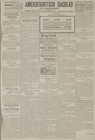 Amersfoortsch Dagblad / De Eemlander 1925-10-01