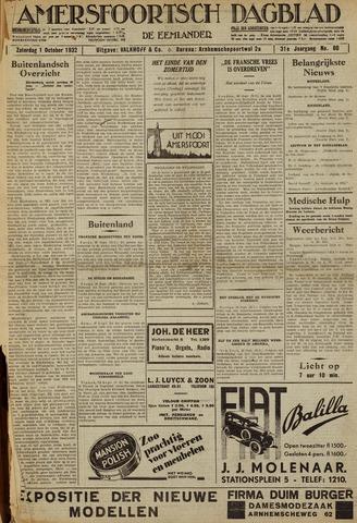 Amersfoortsch Dagblad / De Eemlander 1932-10-01